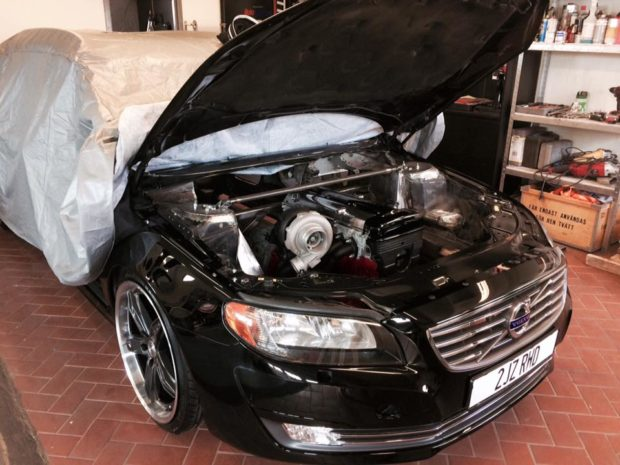 Volvo V70 wagon with a Turbo 2JZ inline-six