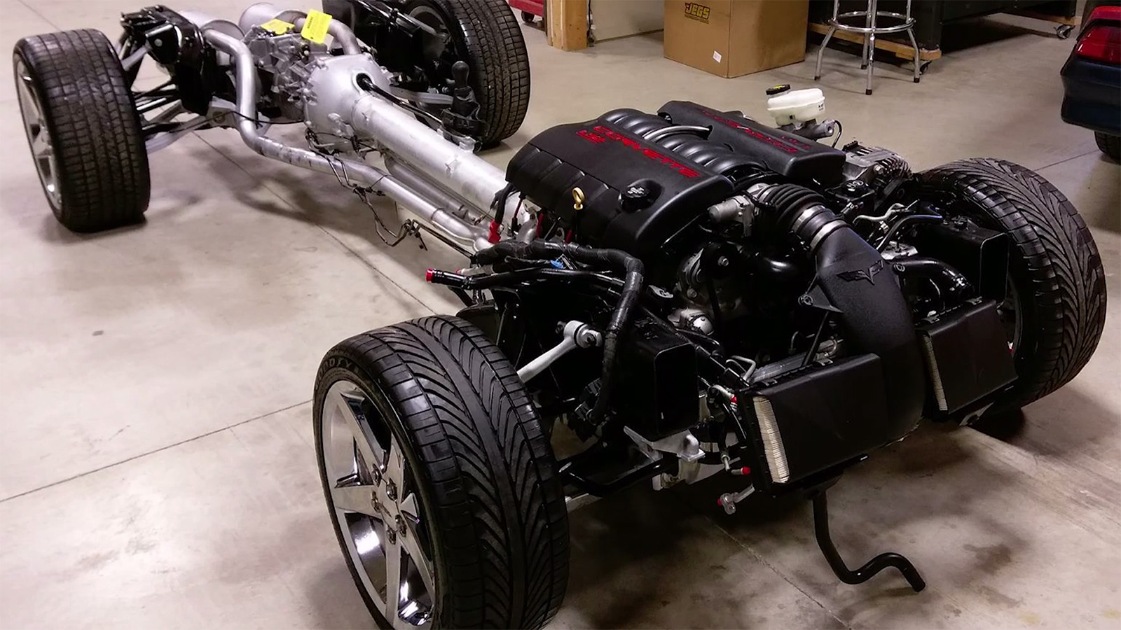 Cleveland Power And Performance >> 1973 Plymouth Duster on a C6 Corvette Chassis - engineswapdepot.com