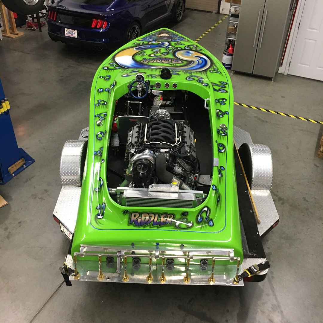 Drag Boat With A Supercharged Coyote V8 Engine Swap Depot