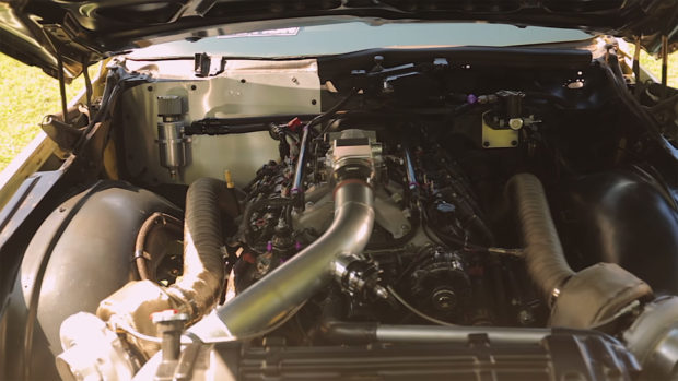1977 Cadillac coupe de ville with a Twin-Turbo LSx V8
