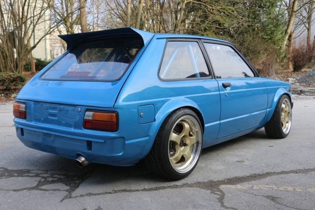 1982 Starlet with a turbo 2ZZ-GE inline-four