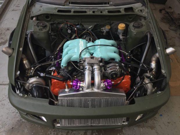1993 Impreza with a twin-turbo EG33 flat-six