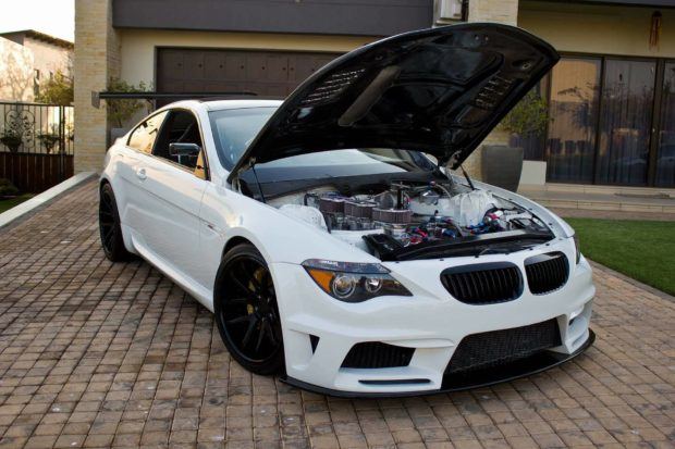 BMW M6 with a 3.9 L six-rotor engine