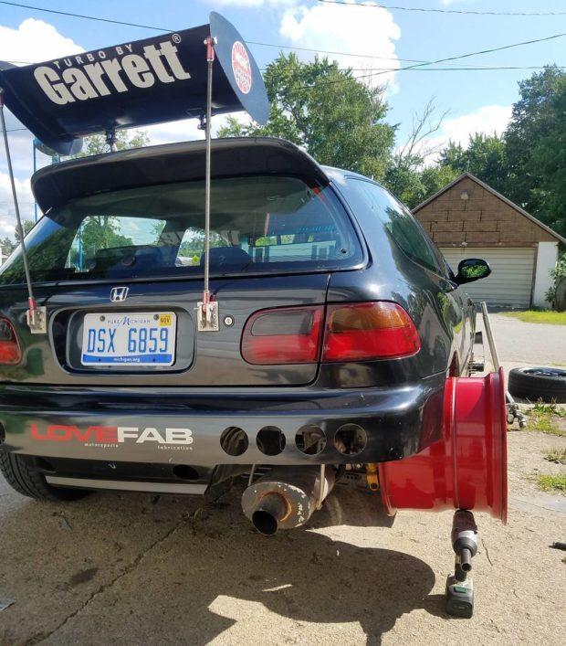 1993 Civic with a Turbo J32 V6