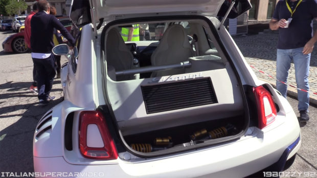 Fiat 500 with an Alfa Romeo 4C Inline-Four