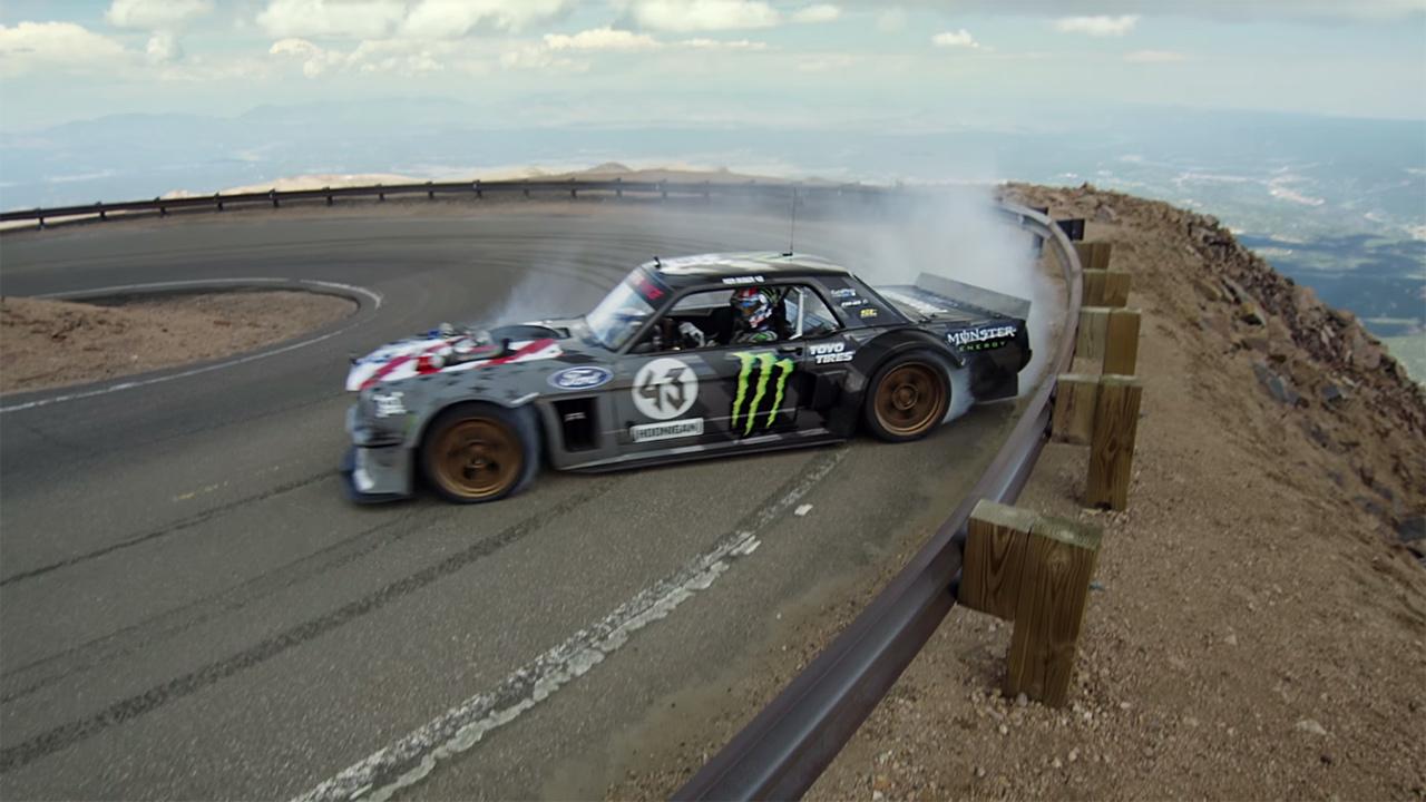Ken Block Drifts Pikes Peak In His Hoonicorn V2 Engine