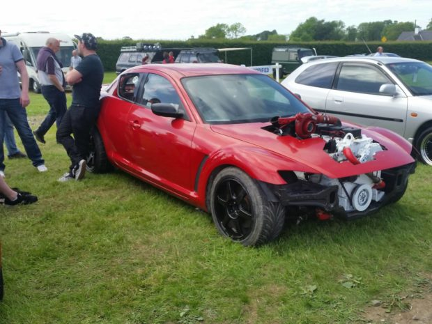 Mazda RX-8 with a Cummins 6BT inline-six