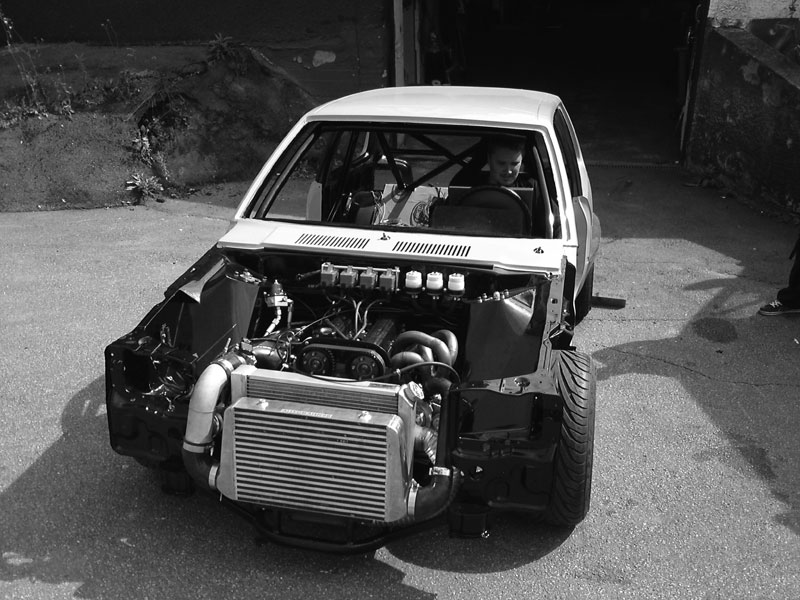 Rwd Suzuki Swift With A Turbo Inline Four Engine Swap Depot