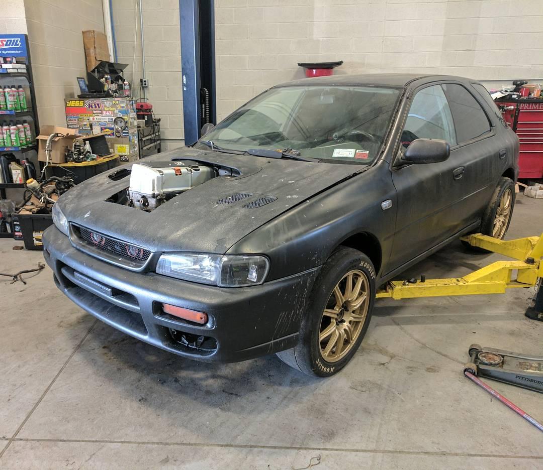 Subaru Impreza With A Turbo K24 Engine Swap Depot