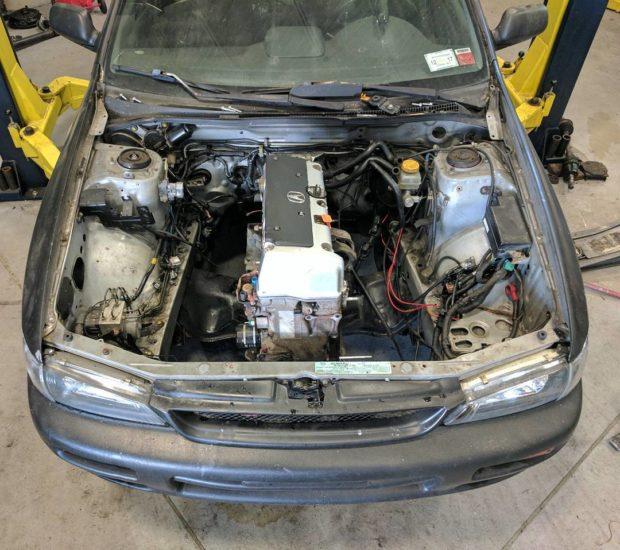 Subaru Impreza with a Turbo K24 inline-four