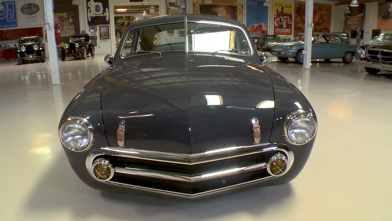 jay leno drives a 1951 ford with a lincoln v8. Black Bedroom Furniture Sets. Home Design Ideas