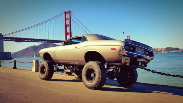 1972 Challenger with a Chevy V8 and 4x4 Chassis
