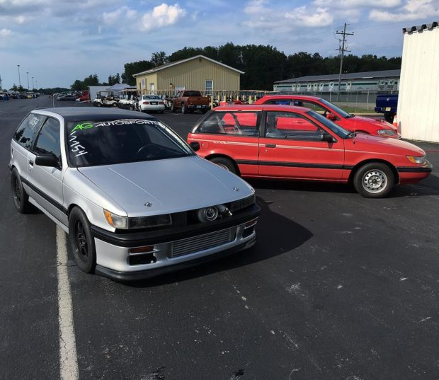 1989 Dodge Colt with a Turbo 4G63 and AWD drivetrain