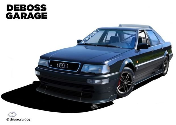 1990 Audi V8 with a quad-turbo LSx V8