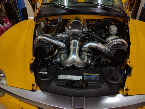 2004 Chevy SSR with a twin-turbo LSx V8