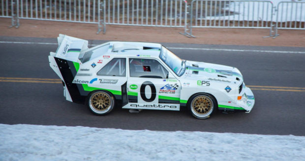 Audi Quattro S1 E2 replica with a 2.5 L inline-five
