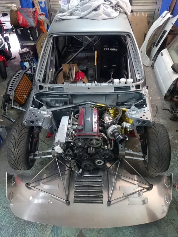 Engine And Transmission >> BMW E30 with a Turbo 4G63 Inline-Four – Engine Swap Depot