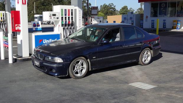 BMW E39 with a turbo 4.8 L TB48 inline-six