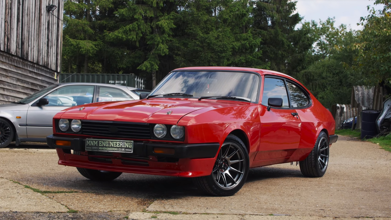 When this ford capri mk iii rolled out of the factory it was powered by a 1 6 l pinto inline four that produced 67 73 horsepower however craig mitchell had