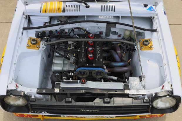 built 4A-GE Inline-Four in Toyota Starlet engine bay