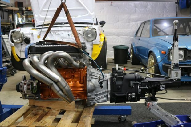 built 4A-GE Inline-Four attached to six-speed sequential transmission