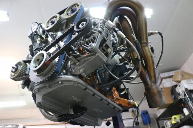 built 4A-GE inline-four with dry sump system