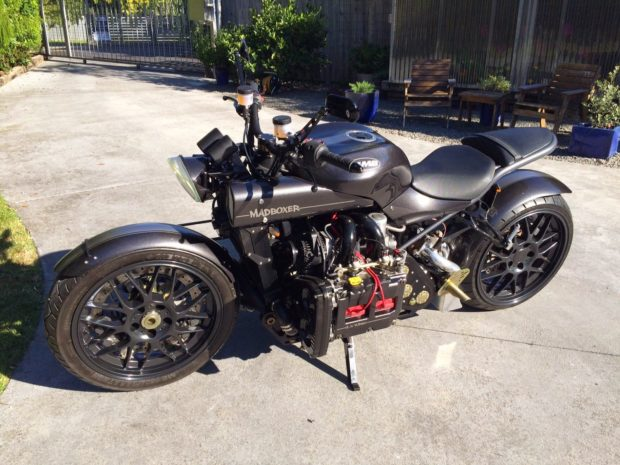 Mad Boxer motorcycle with turbo EJ25 flat-four