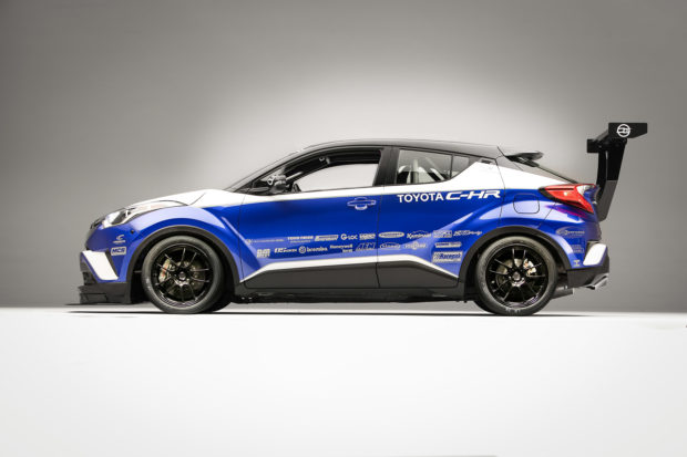 Toyota C-HR R-Tuned with a turbo 2AZ inline-four