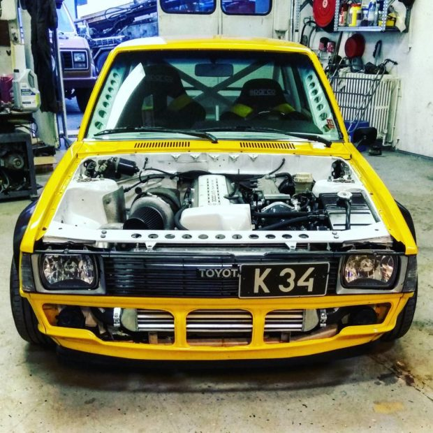 Toyota Corolla with a Turbo 2JZ Inline-Six