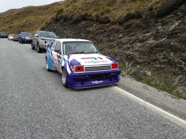 Toyota Starlet with a Formula Atlantic 4A-GE inline-four