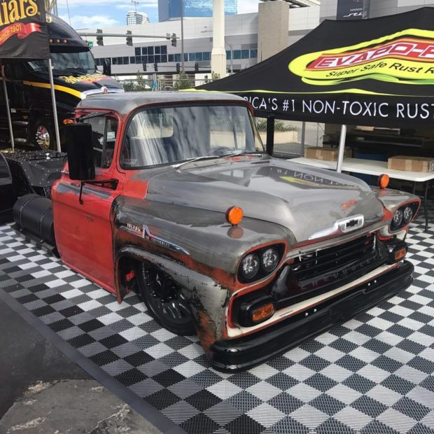 1958 Chevy Viking with a Mid-Engine Twin-Turbo Duramax V8