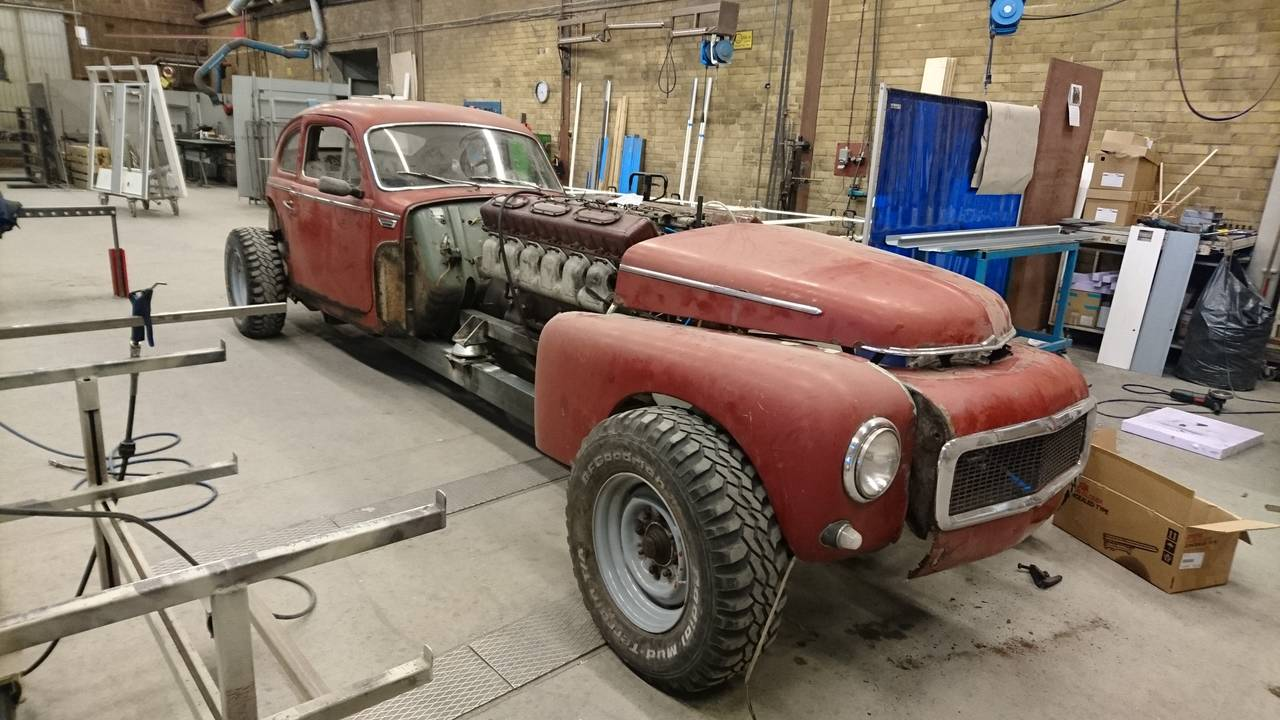 Volvo PV544 with a 38 L Diesel V12 - engineswapdepot.com