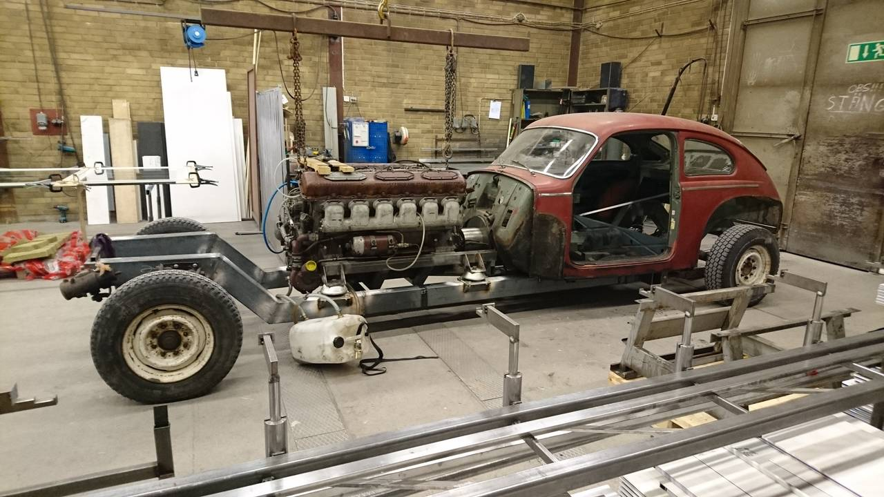 Volvo Pv544 With A 38 L Diesel V12 Engine Swap Depot