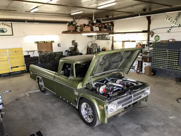 1970 Dodge D200 with two 6BT inline-six engines