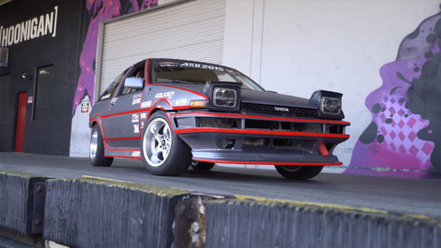 Drift Toyota Corolla AE86 with an electric motor