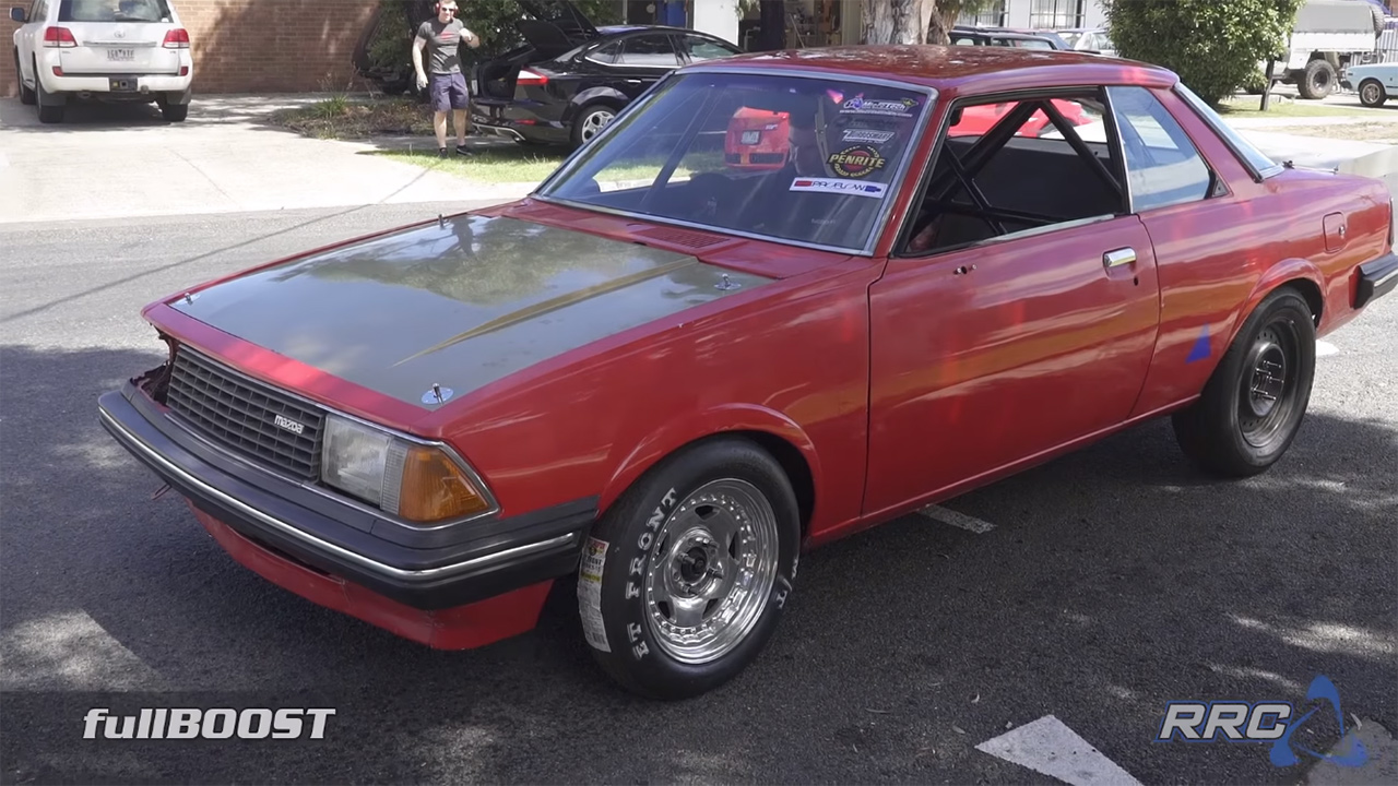 "Luke Oxley from FullBoost and Paul ""Broomy"" from Rotary Race Cars teamed up  to build a 1982 Mazda 626 they are calling Project Redline capable of  running ..."