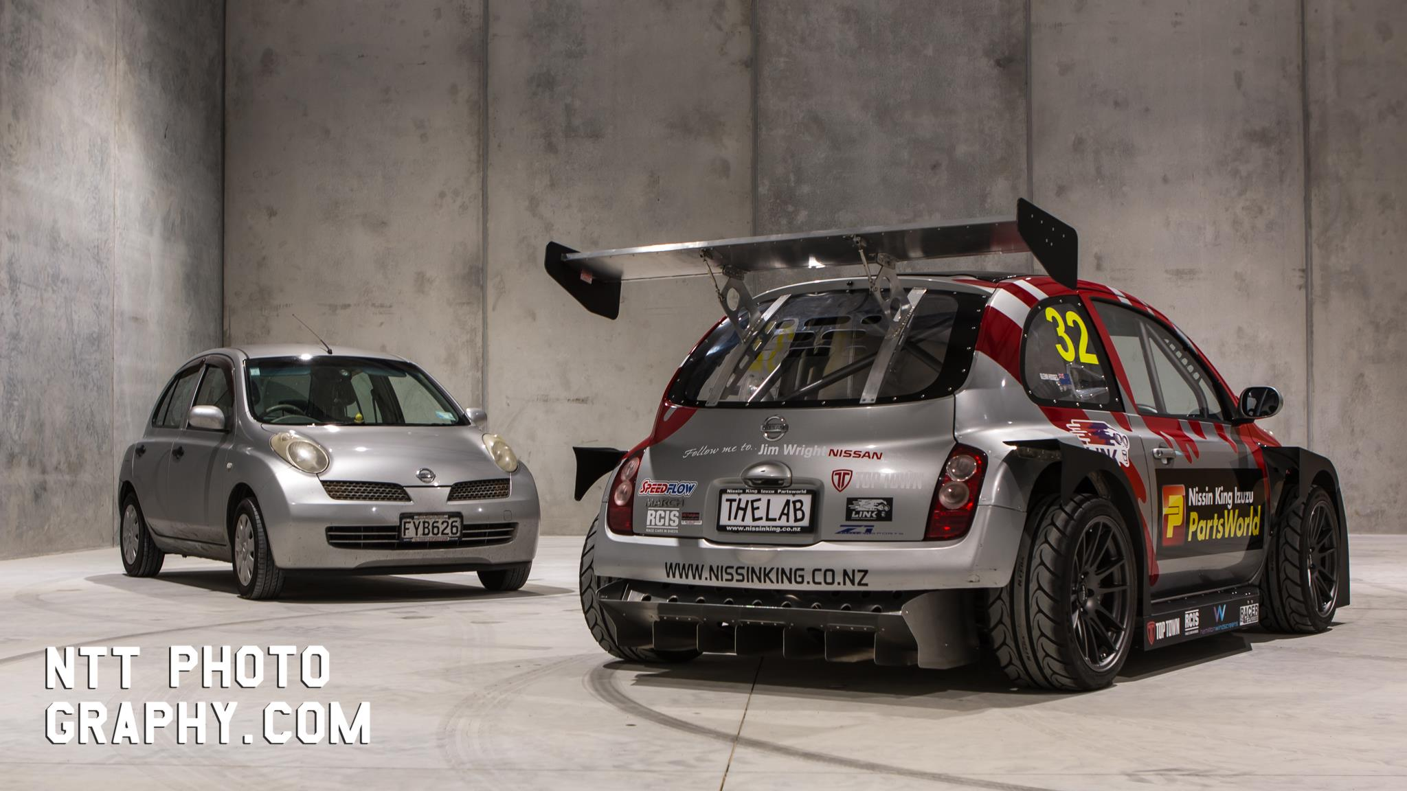 Nissan March With A Mid Engine Twin Turbo V6 Engine Swap