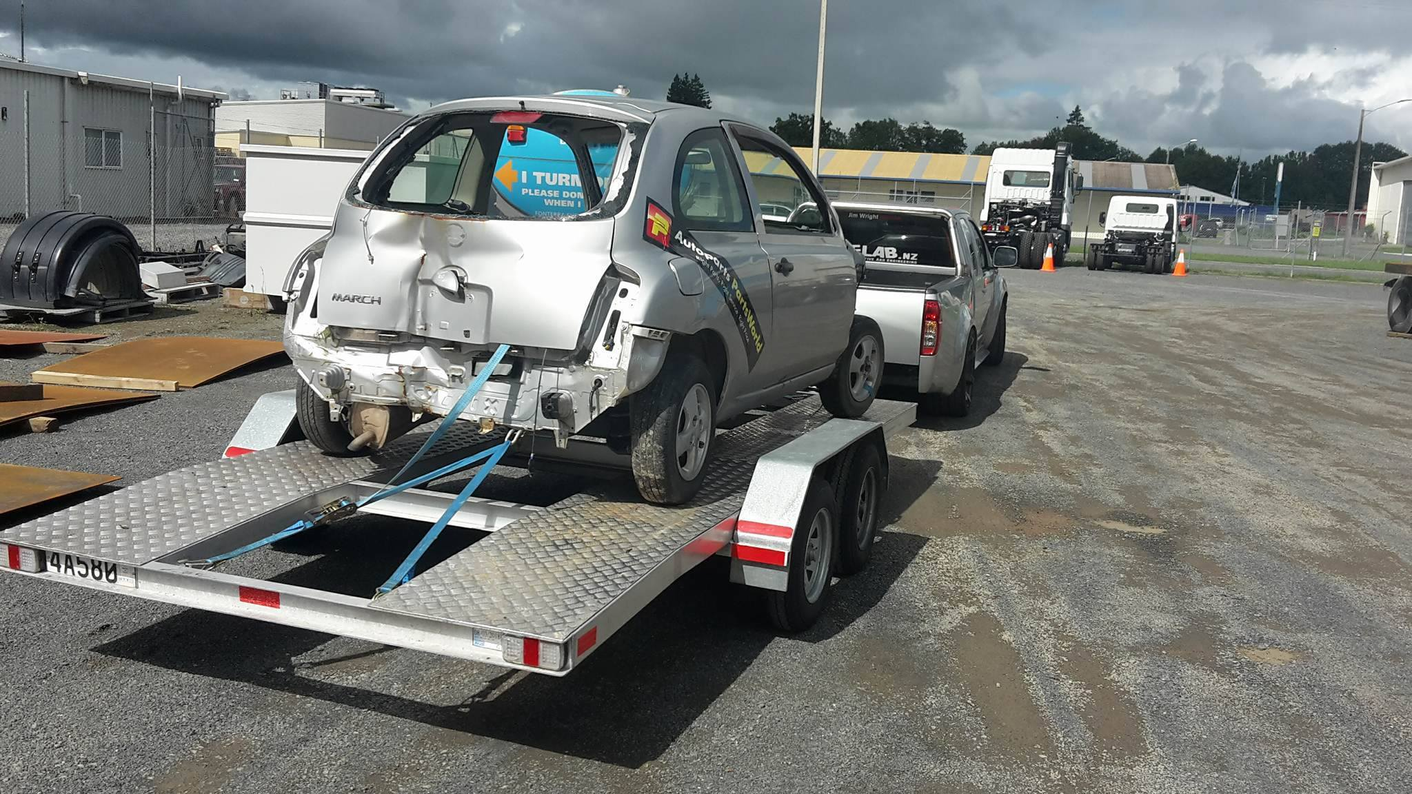 Nissan March with a Mid-Engine Twin-Turbo V6 – Engine Swap Depot