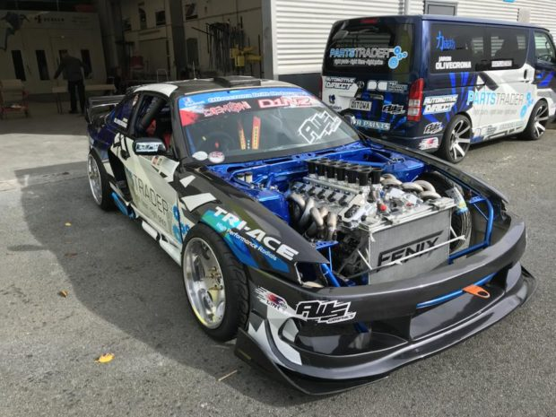 Nissan S14 with a Toyota 1GZ-FE V12
