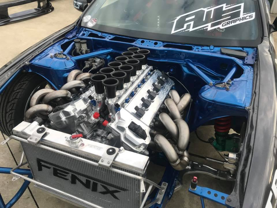 Nissan S14 with a Toyota V12 Update ndash Engine Swap Depot