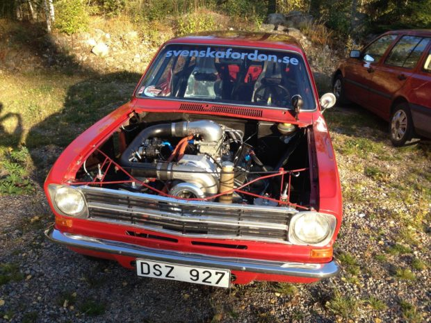 Opel Kadett Caravan with a Supercharged Chevy V8
