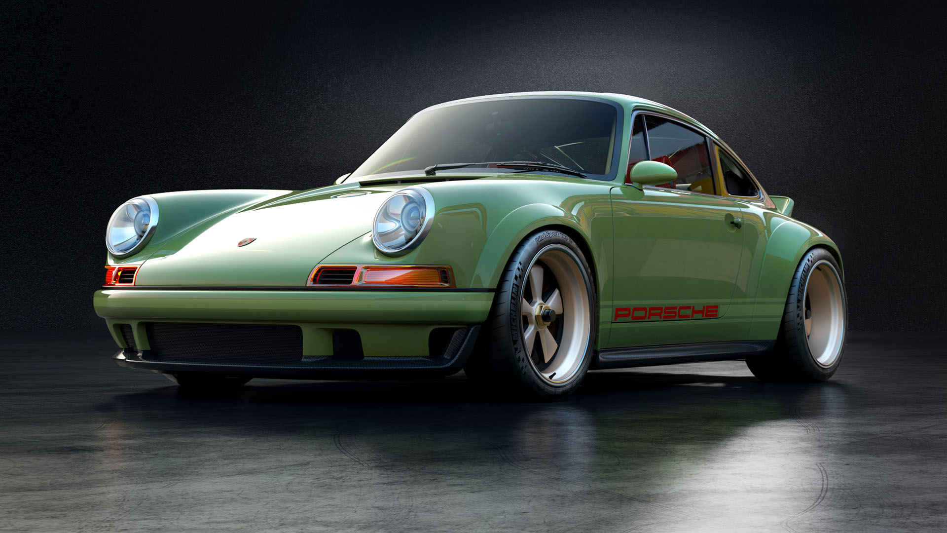 singer porsche 964 with a 500 hp air cooled flat six engine swap depot. Black Bedroom Furniture Sets. Home Design Ideas