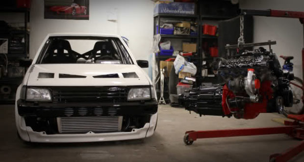 Toyota Starlet with Volvo 240 chassis and powertrain