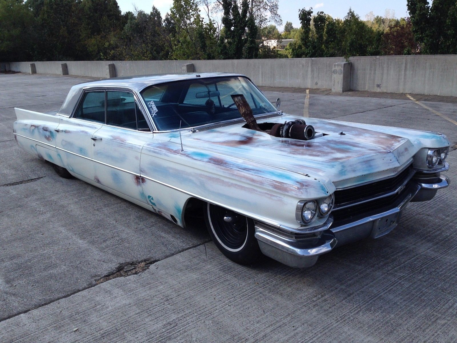 for sale 1963 cadillac with a 6bt diesel inline six engine swap depot. Black Bedroom Furniture Sets. Home Design Ideas