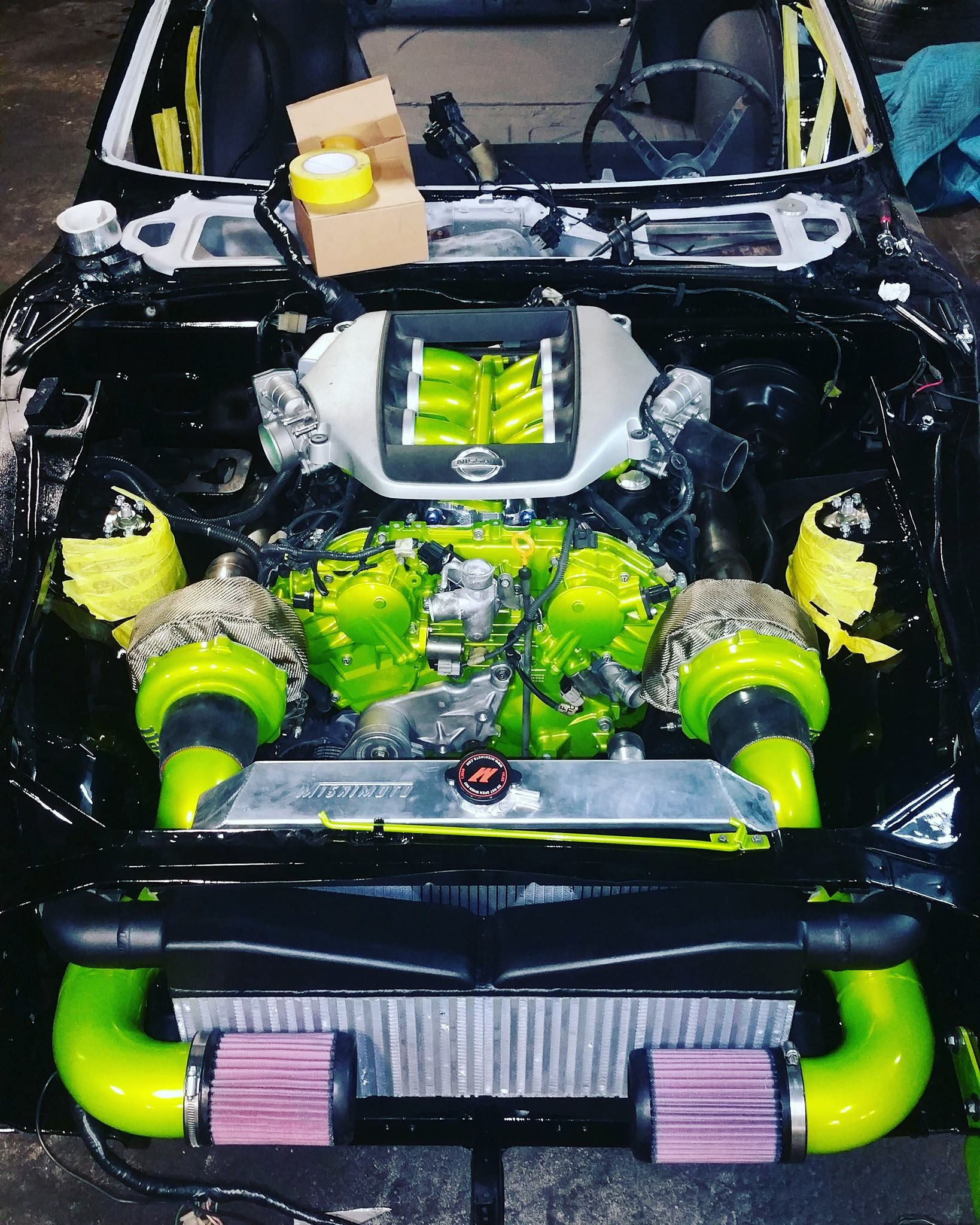 1973 Datsun 240z With A Twin Turbo Vq37 V6 Engine Swap Depot L24 Diagram Source Fever Racing Fb Page And Twinturbo