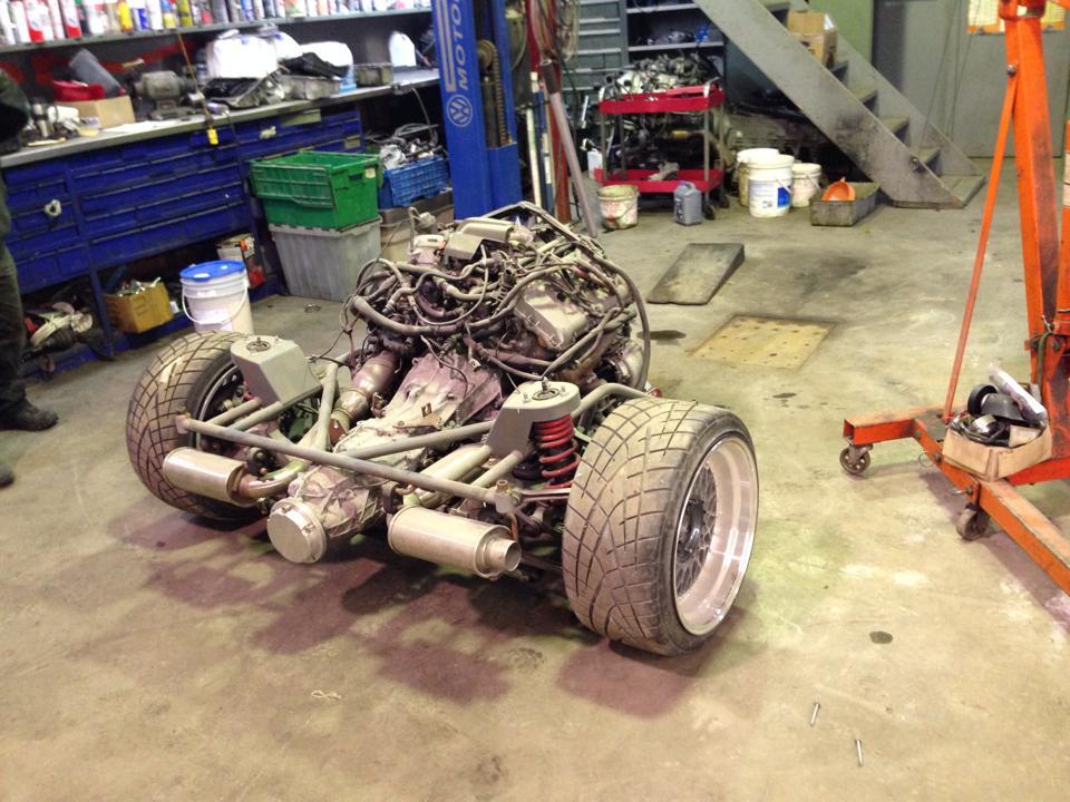 Vw Rabbit With A Mid Engine Audi V8 Engine Swap Depot