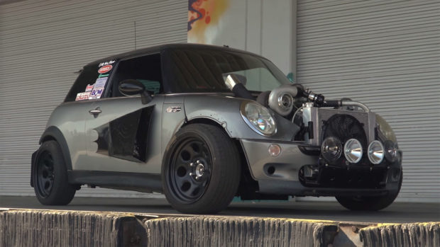 2004 Mini Cooper S with a Turbo Chevy V8