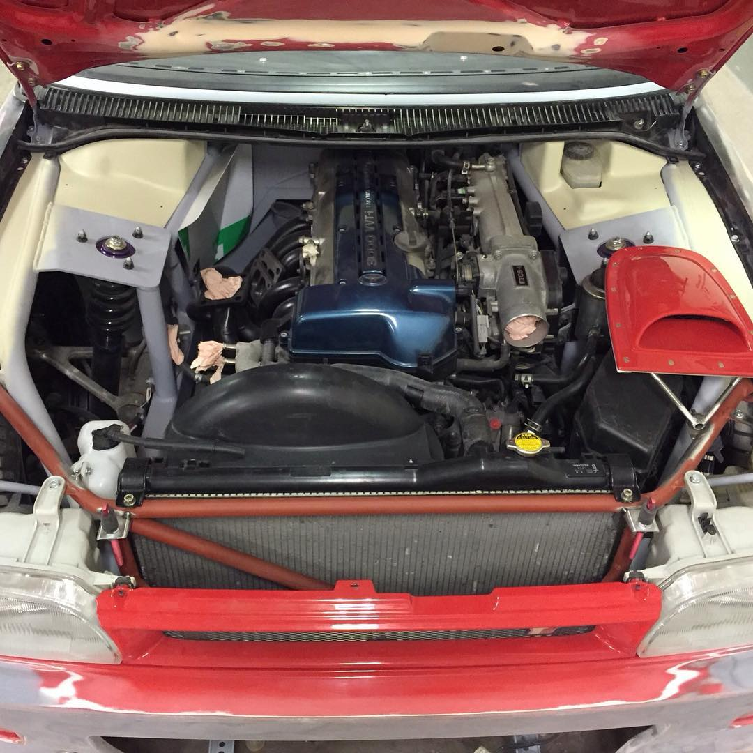 1992 Toyota Corolla With A 2jz Gte Inline Six Engine Swap Depot Wiring Harness Trunk The Factory 16 L Four And Transmission Was Replaced 30 Getrag V160 Manual