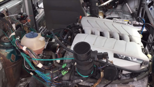 VW Lupo with Two W12 Engines