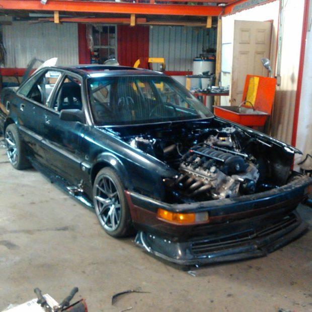 1990 Audi V8 with a quad-turbo LSx V8